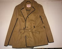 Juicy Couture Gold Sand Coat Jacket Cape with Hood Bride Wedding Med