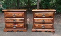 2 Solid Wood Nightstands (Free delivery..read ad)