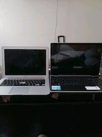 Two Laptops (Macbook Air)-(HP Pavillion x360)