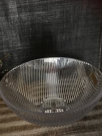 round clear cut glass bowl 550 km