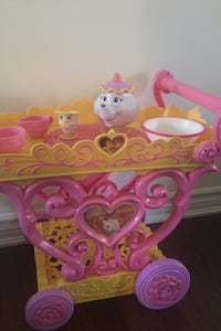Beauty and the beast tea cart and set Aurora, L4G 0X4