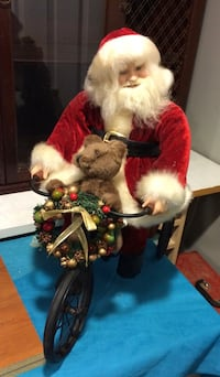 Santa on Bike Christmas Decor Catonsville, 21228