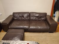 Beautiful Italian Leather Couch and Loveseat SOMERVILLE