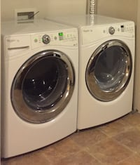 white front-load clothes washer and dryer set Toronto, M6H 0E4