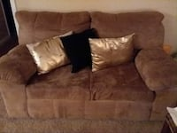 Tan Suede love seat and Long seat Fayetteville, 28314