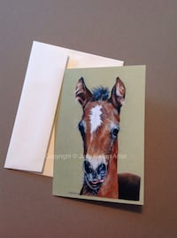 "5""x7"" horse Notecards with envelope Hampton Falls, 03844"