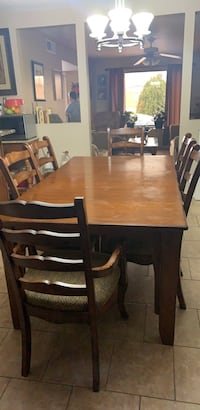 rectangular brown wooden table with chairs dining set El Paso, 79915
