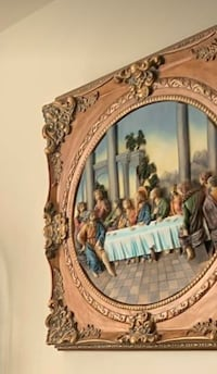 Beautiful antique frame Last Supper brand new from a smoke and pet free home! Vaughan, L4H 3L3