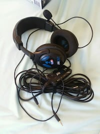 black and blue corded headphones Moorhead, 56560