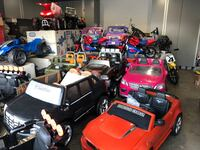 Red and black ride on cars power wheels  Westminster, 92683
