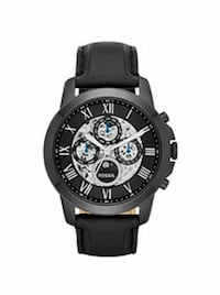 Fossil black leather ATOMIC WATCH  Seattle, 98122
