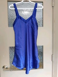 Silky blue nightie size small