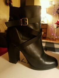 Aldo Black Leather Ankle Booties; Size: 9 Mississauga, L4Y 4E2