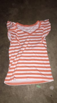white and pink stripe scoop-neck sleeveless dress