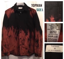Topman Size L Tie Dye Shirt in Perfect Condition