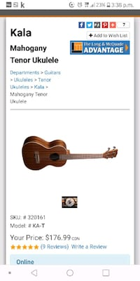 Ukelele and case for sale.. Like. New