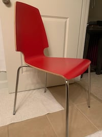 red and gray metal chair Herndon, 20171