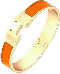 Orange gold H bangle - Circumference: 17cm Toronto