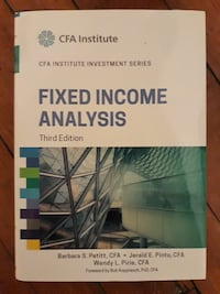 Livre Fixed income analysis