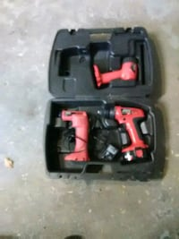 red and black cordless power drill Lockport, 60441