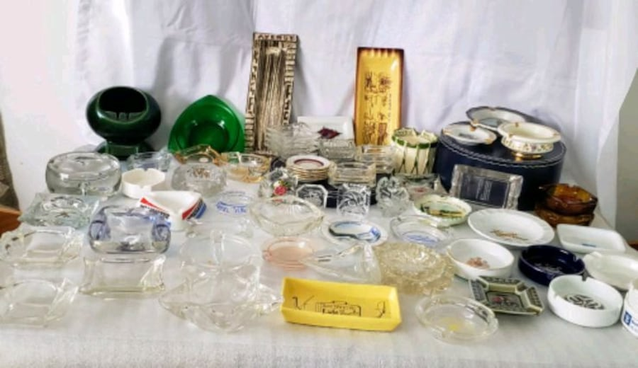 Over 100 Ashtrays $2 and up. 6ece1d79-4663-4a34-b690-c4f7e07a9d17