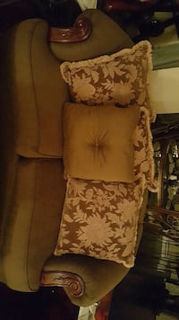 brown and black floral fabric sofa Lithia Springs, 30122