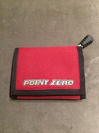 Red, white, and black point zero trifold wallet good condition