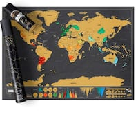 Brand new Scratch off World map Deluxe Edition
