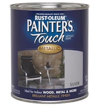New can of Rust-Oleum 254100 Painters Touch Quart Oil Based, Metallic silver Vaughan, L4H