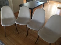 [moving sales] 4 white dinner chairs Burnaby, V5B 2P6