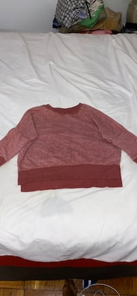 Red Cropped Crewneck Sweater
