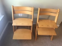 Height right kids' chairs- solid maple, 2 for $20 Leesburg, 20176
