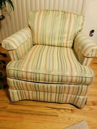 white and green striped fabric sofa chair Charleston, 29407