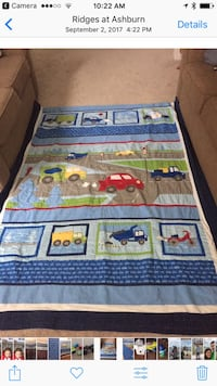 Twin reversible quilt