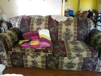 white, purple, and green floral sofa Hartsville, 29550