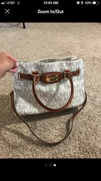gray and brown Michael Kors 2-way bag Reston, 20191