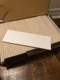 A full box of 48 glazed white subway wall tiles in perfect condition Toronto, M2P 1E4