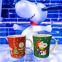 Peanuts Snoopy and Charlie Brown Christmas Mugs Greenville, 29611