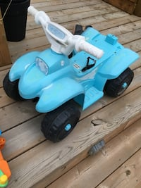 Blue and white plastic toy Ajax, L1Z 0R1