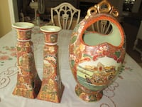 SATSUMA! Vintage 3 Piece Set Of Asian Decor--A+ Co Whitchurch-Stouffville