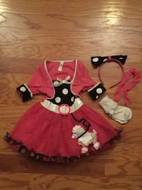Toddler's pink and black poodle  dress Cypress, 77429