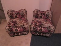 two white-and-pink floral sofa chairs for kids Edmonton, T5T 3J7