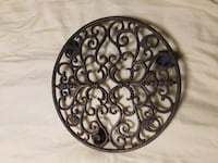 "12""  Decorative Weight Cast Iron Scroll Plant Cadd Valley Stream, 11581"