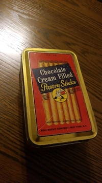 vintage candy tin can. Delivered free Queens, 11355