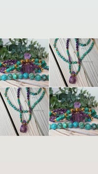 Essential Oil | Perfume Gemstone Bottle Necklace