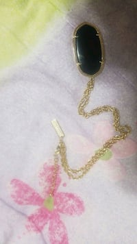 Kendra Scott Gold and Onyx Danille Necklace  Austin