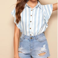 New blouse white and blue Lancaster, 93536