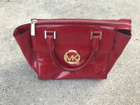 red Michael Kors leather tote bag Falling Waters, 25419