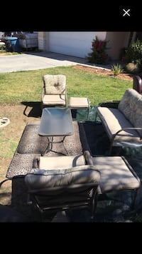 Out door patio set good condition with cushions  Perris, 92571