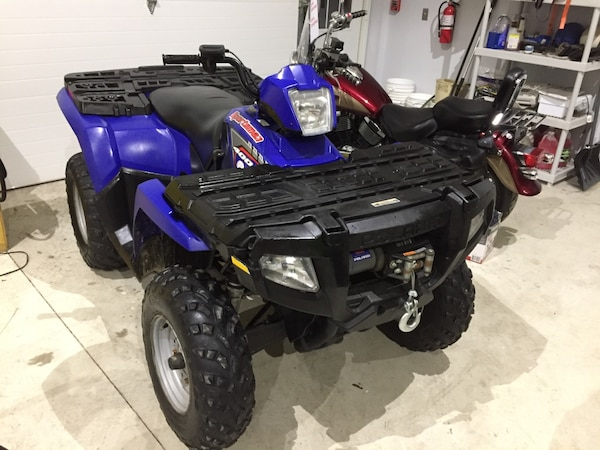 2005 polaris sportsman 400 4x4 atv with winch 2708 miles will trade